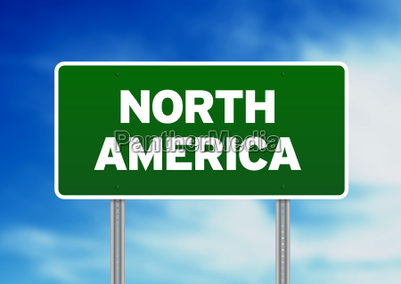 north america highway sign