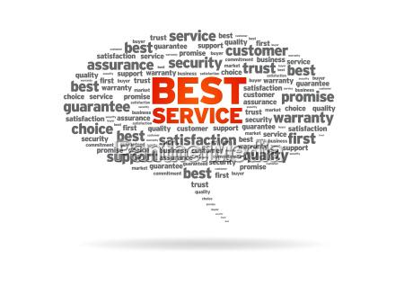 sprachblase bester service