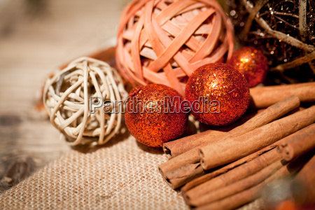 festive christmas decoration in brown and