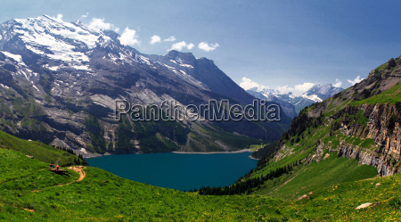 over the beautiful oeschinensee