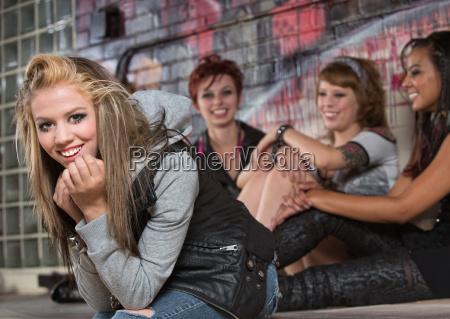 cheerful female teenager