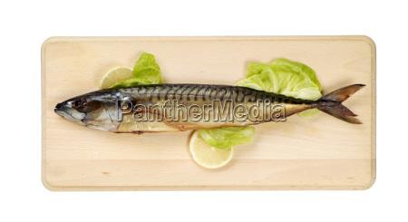 geraeucherte makrelen