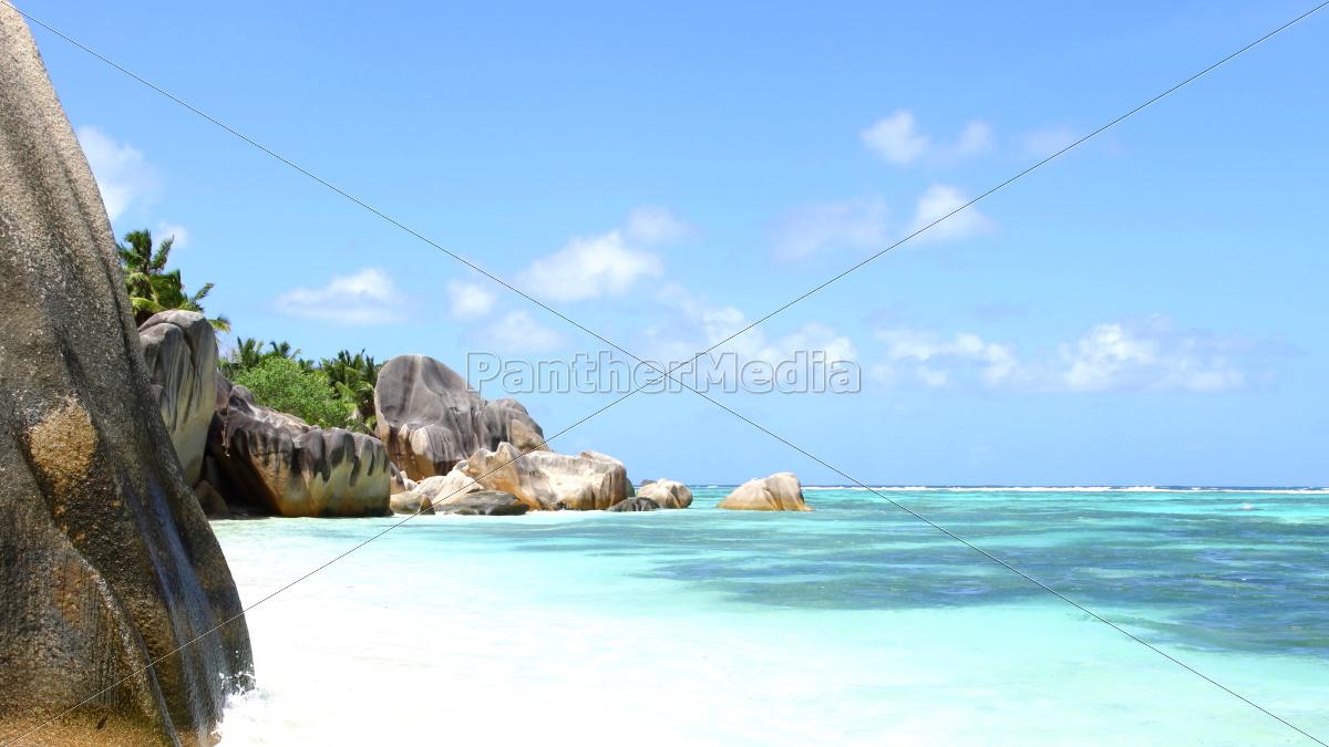La Digue, Lagune, Riff, Sand, Seychellen, Strand - 9680916