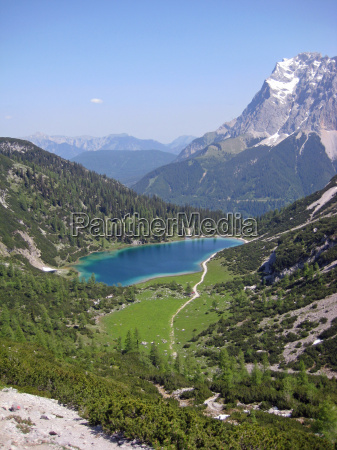 alps austrians mountain lake tyrol water