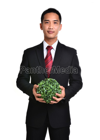 bussiness man with future eco