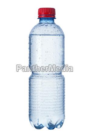 isolierte flasche wasser