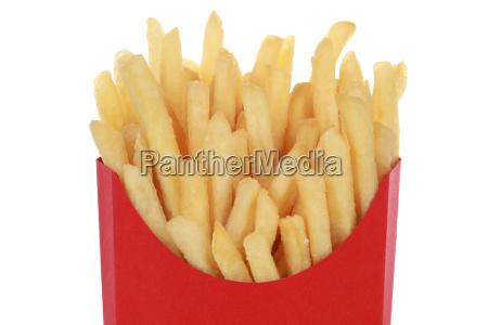 pommes frites in der tuete isoliert