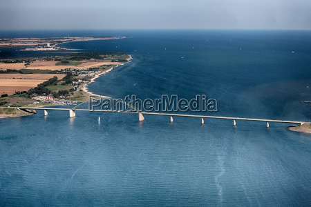 fehmarnsund bridge aerial view