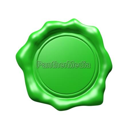 wachs dichtung gruene isolierte