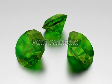 3d emerald 3 green edelsteine