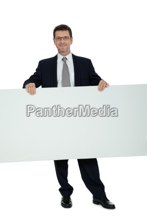 adult businessman laughing copy space poster