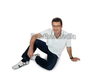 adult happy man with glasses and