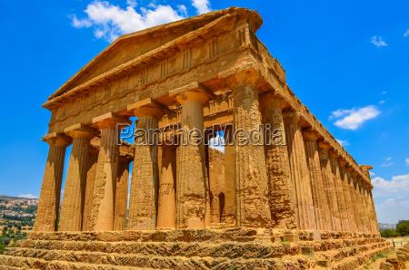 ruinen der alten tempel in agrigentsizilien