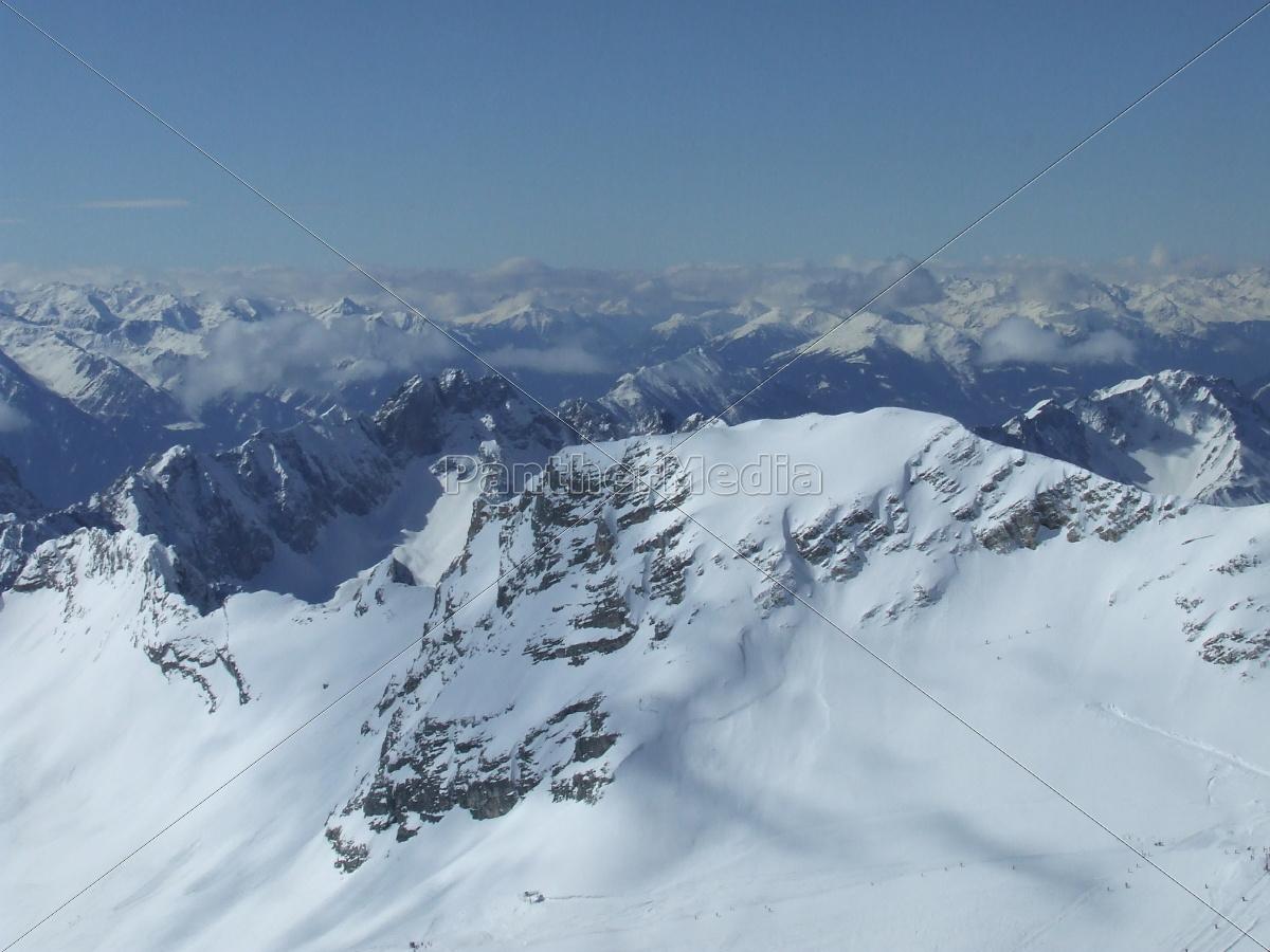 Zugspitze, Alpen, Gebirge, Landschaft, Schnee, spitze - 9747098