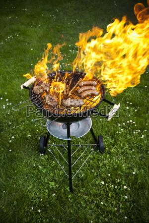 feuer heisses grillen