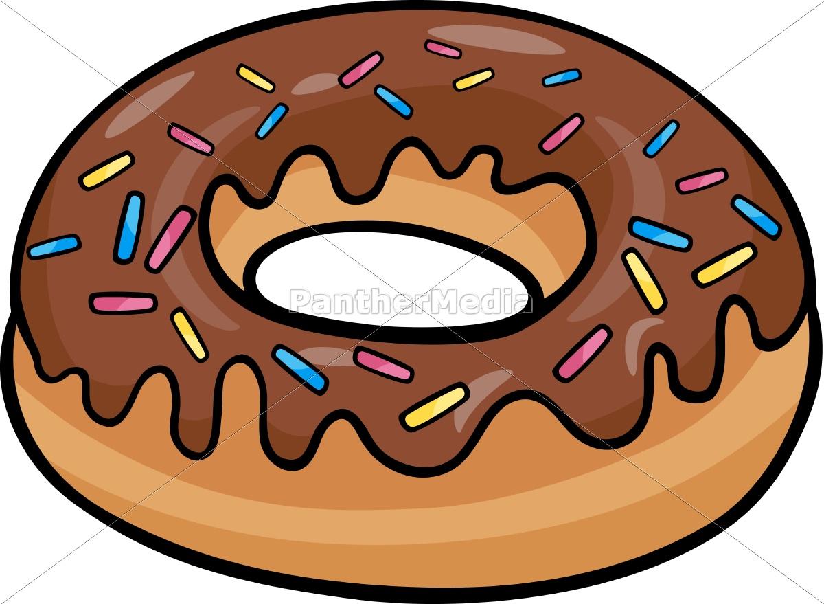 Donut Kuchen Cartoon Abbildung Lizenzfreies Foto 9755776