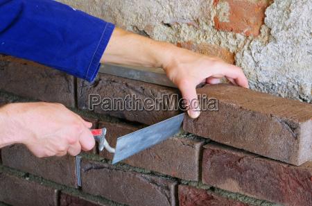 klinkerwand mauern lay a brick