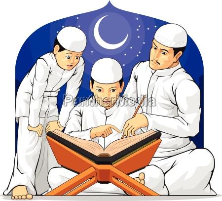 kinder lesen lernen al quran mit