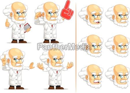 wissenschaftler oder professor anpassbare maskottchen 4