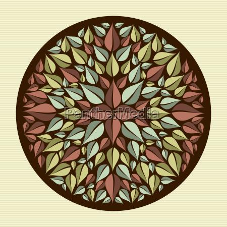 blaetter yoga mandala