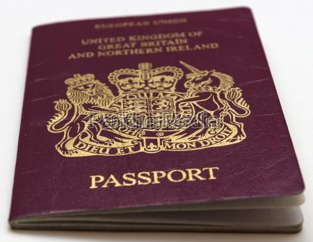 passport koenigreich von grossbritannien und nordirland