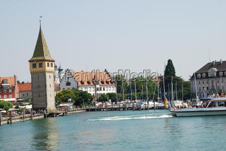 lindau am bodensee mangenturm bavaria harbor