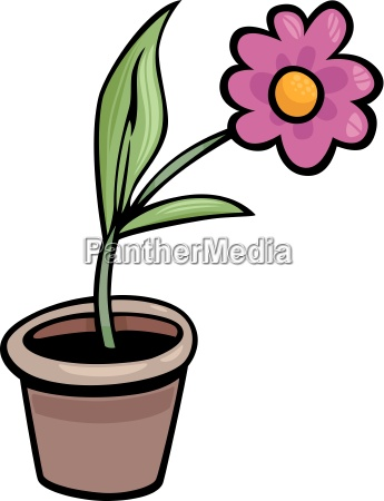 blume in der kunst cartoon illustration