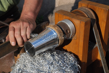 turning steel tin pewter lathe craft