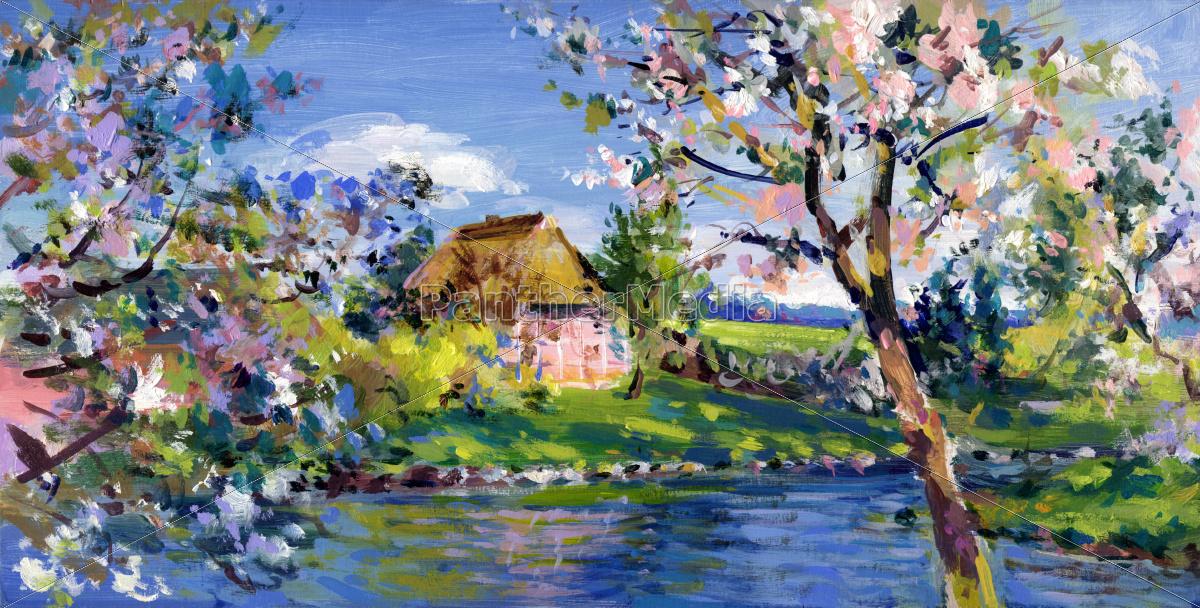 Impressionistic Blue Painting
