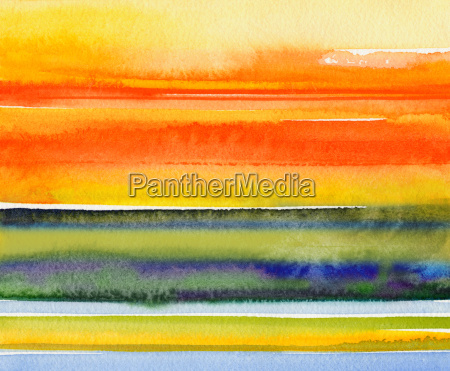 landscape watercolor sky abstract