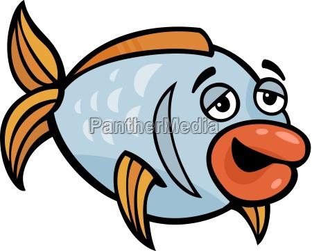 lustige fische cartoon abbildung