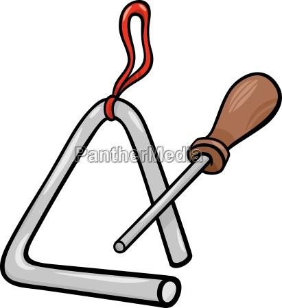triangle percussion clip art cartoon illustration
