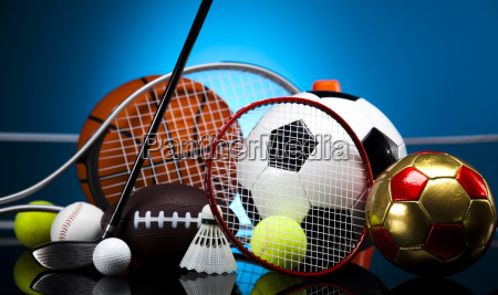 sport viele baelle und sachen