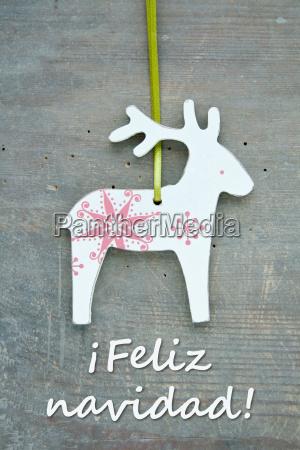 reindeer spain spanish christmas merry christmas