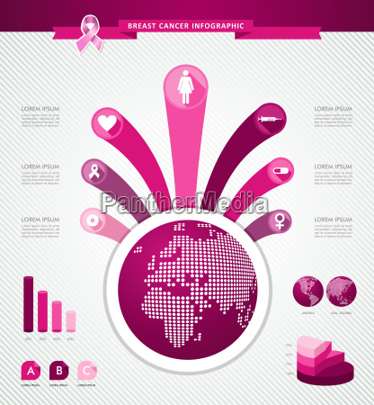 breast cancer awareness global infographics template