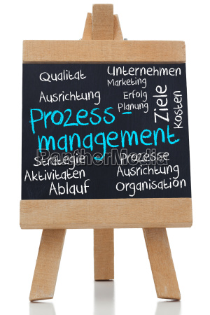 process management written on blackboard in