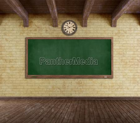 grunge leeren klassenzimmer