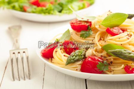 vegetarische spaghetti pasta