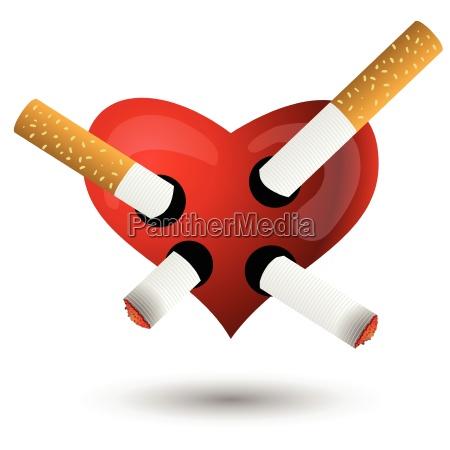 rotes herz und zigaretten
