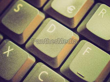 retro look computer tastatur
