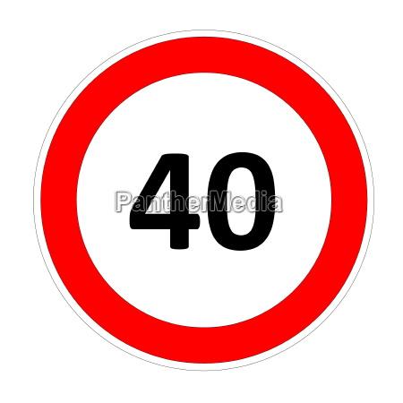40 geschwindigkeit zeichen