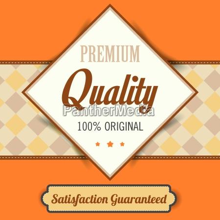 premium qualitaet plakat retro vintage design