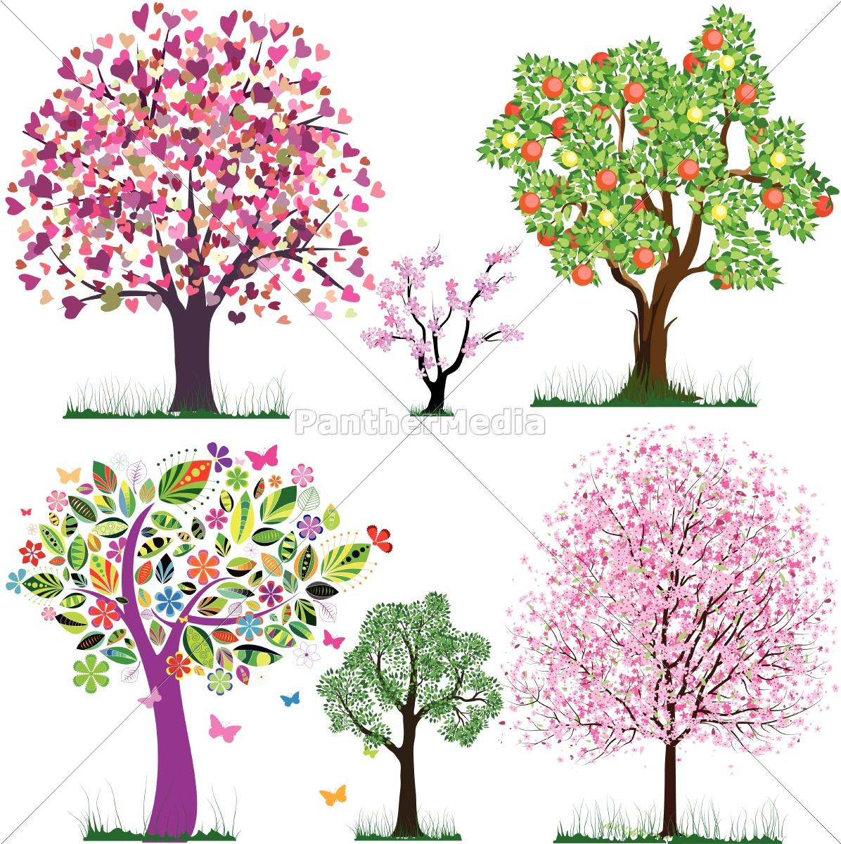 vector, fabelhafte, bäume - 10012120