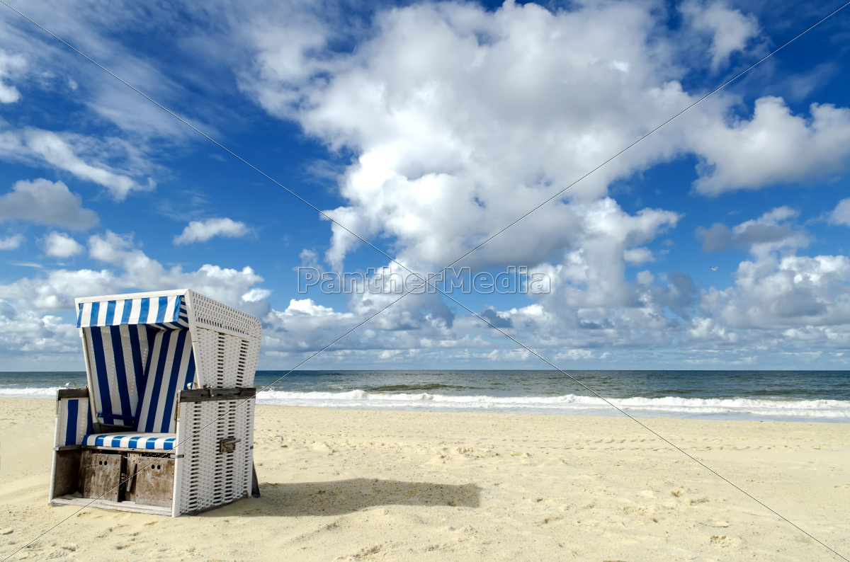 strandkorb auf sylt stock photo 10014442 bildagentur panthermedia. Black Bedroom Furniture Sets. Home Design Ideas