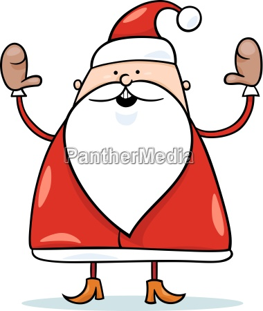 niedliche weihnachtsmann cartoon illustration