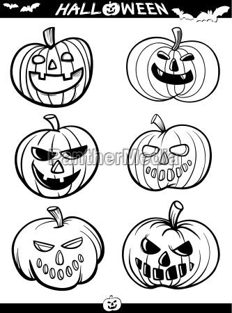 illustration gruselig halloween geisterhaft unhold kuerbis