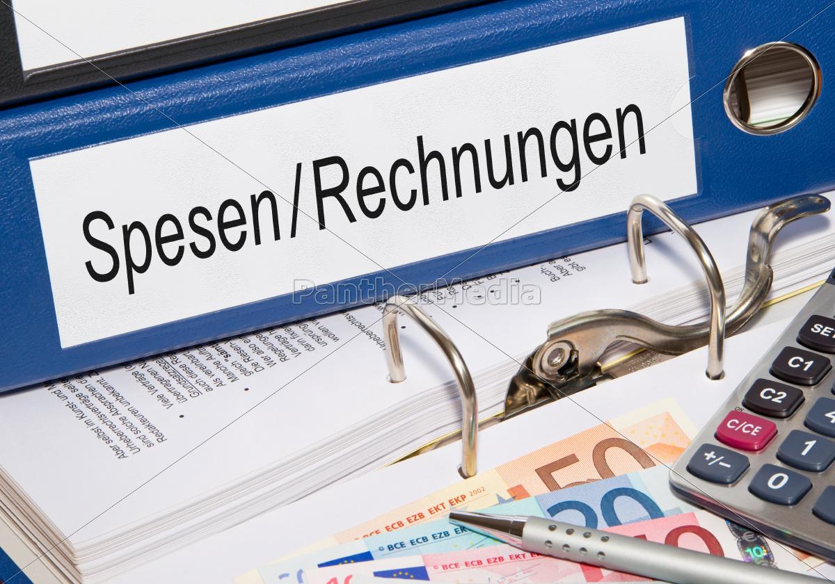 Spesen und Rechnungen - Lizenzfreies Foto - #10023476 - Bildagentur ...