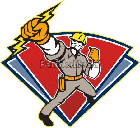 elektriker stanzen lightning bolt