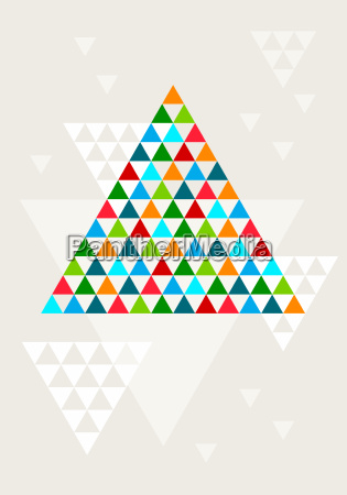 abstract geometric christmas tree