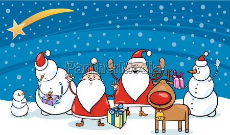 weihnachten comicfiguren